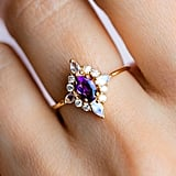 Antique Cuts: Pink Lady Ring With Amethyst