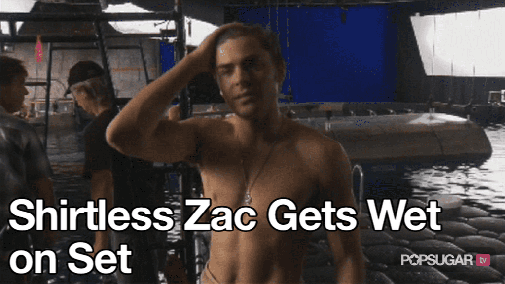 Video of Zac Efron Shirtless For Charlie St Cloud