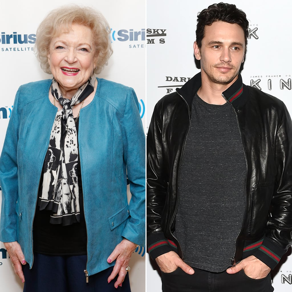 Betty White and James Franco