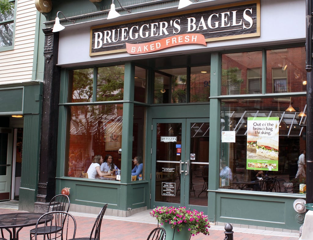 Breakfast at Bruegger's Bagels