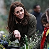 Kate Middleton Visits King Henry's Walk Garden January 2019
