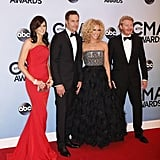 Little Big Town walked the red carpet together at the CMAs. Source: Twitter user LBTmusic