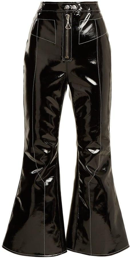 Ellery Sipsi Kick-Flare Patent Trousers