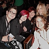 Jack Osbourne, Kelly Osbourne, and Sharon Osbourne posed in the audience with Natalie Portman and Nicole Kidman in 2002.
