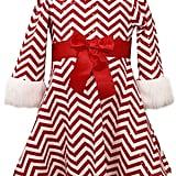 Bonnie Jean Chevron Santa Dress
