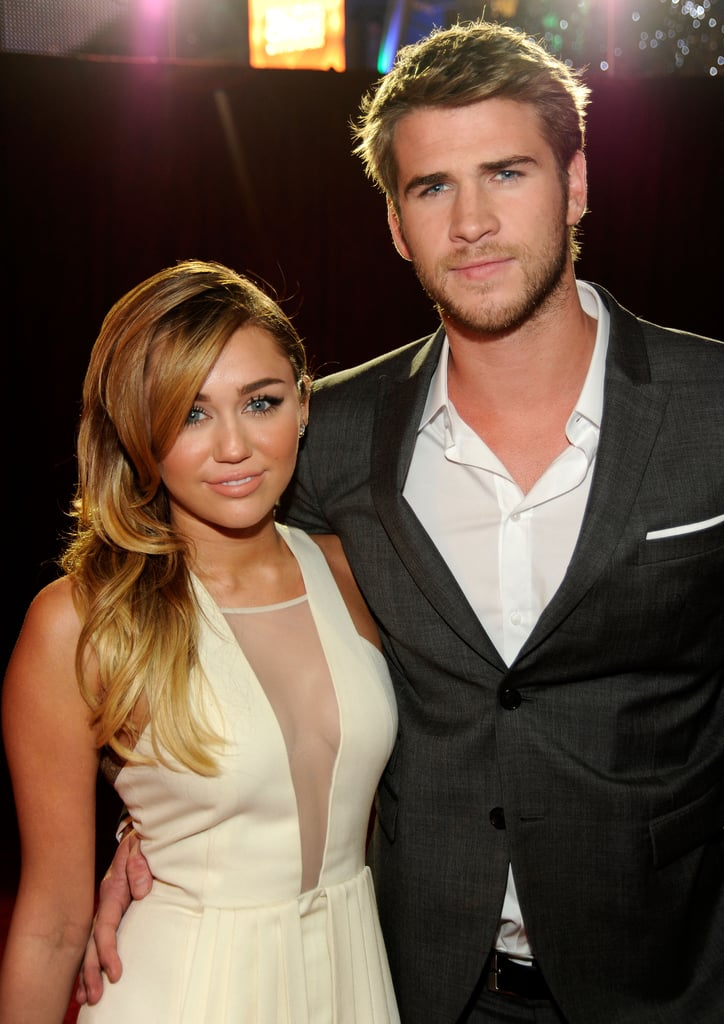 Miley Cyrus and Liam Hemsworth were together on the red carpet.