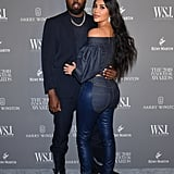 Kim and Kanye coupled up at the 2019 Innovator Awards in November.