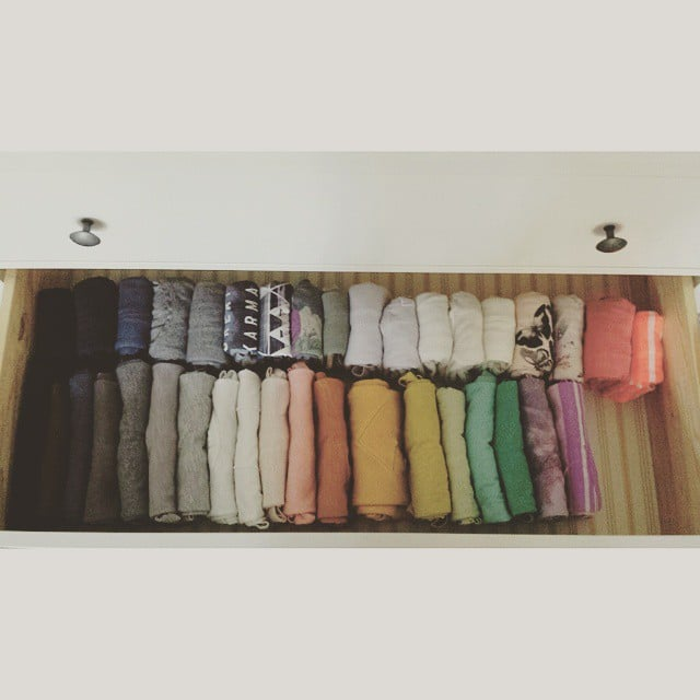 Kondo also likes when things are organized by color.