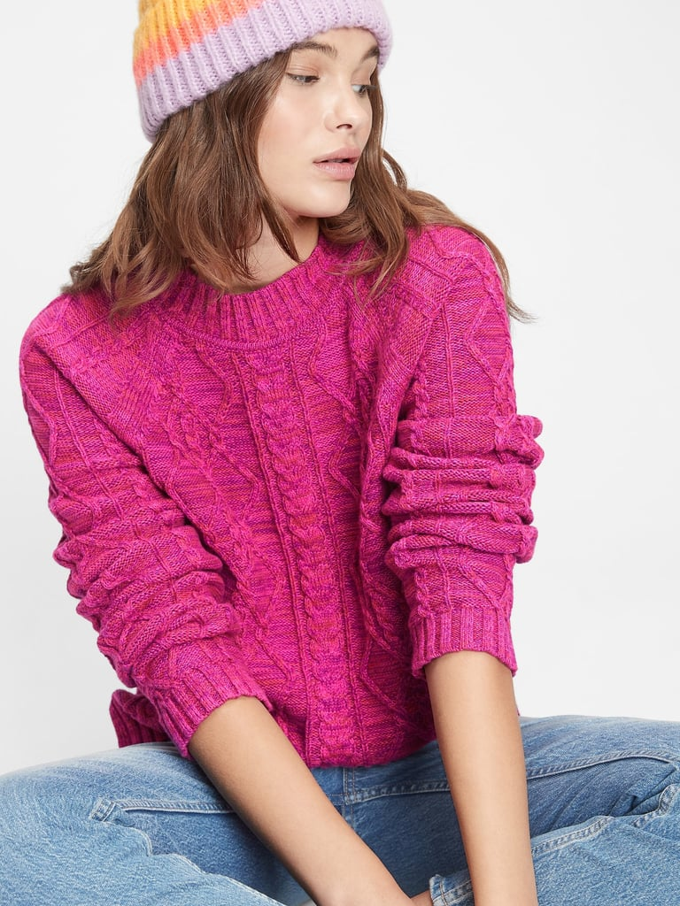 Gap Cable Knit Crewneck Sweater