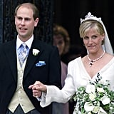Queen Elizabeth's son Prince Edward married Sophie, Countess of Wessex in June 1999 in Windsor, England.