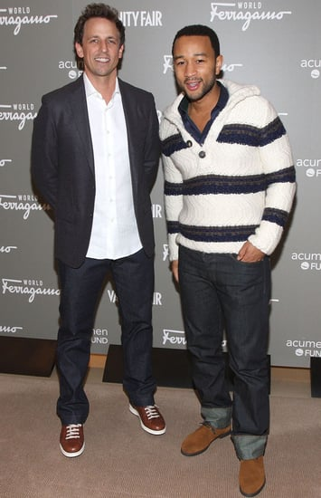 Pictures of John Legend and Seth Meyers at Ferragamo World Launch