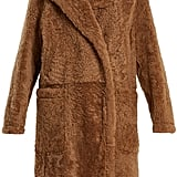 Yves Salomon Peak-Lapel Shearling Coat