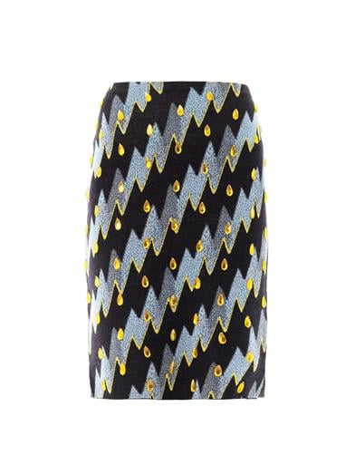 Trust Kenzo to make a pencil skirt ($396) with a seriously eye-catching lightning bolt print.