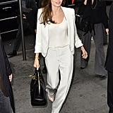 Angelina Debuted Her Classic Street Style Suit in 2011