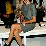 Naomi Watts took her seat in the front row at Calvin Klein.