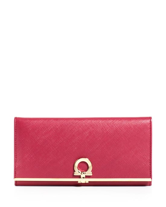 What better way to ring in a new season than to refresh the essentials? I fell in love with the Salvatore Ferragamo continental wallet ($575), which features the iconic Gancio logo. — SW
