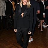 Lara Bingle took a menswear approach to styling when she attended the David Jones Spring Summer collection launch on July 31.