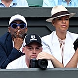 Spike Lee and Tonya Lewis Lee at Day 7 of Wimbledon