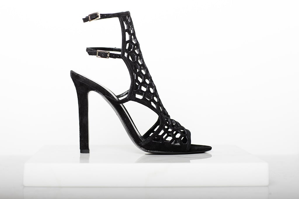 Scandal Suede Sandal Bootie in Black Photo courtesy of Tamara Mellon