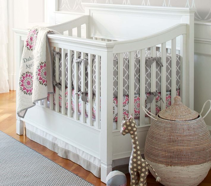 pottery barn kids dahlia collection modern crib bedding. Black Bedroom Furniture Sets. Home Design Ideas