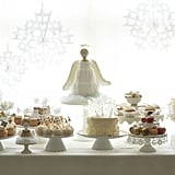 An Angel Dessert Table Filled With Nutcracker Sweets