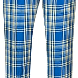 Rosie Assoulin Crinkled Plaid Trousers