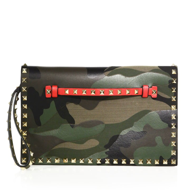Valentino Rockstud Camouflage Flap Clutch ($2,495)
