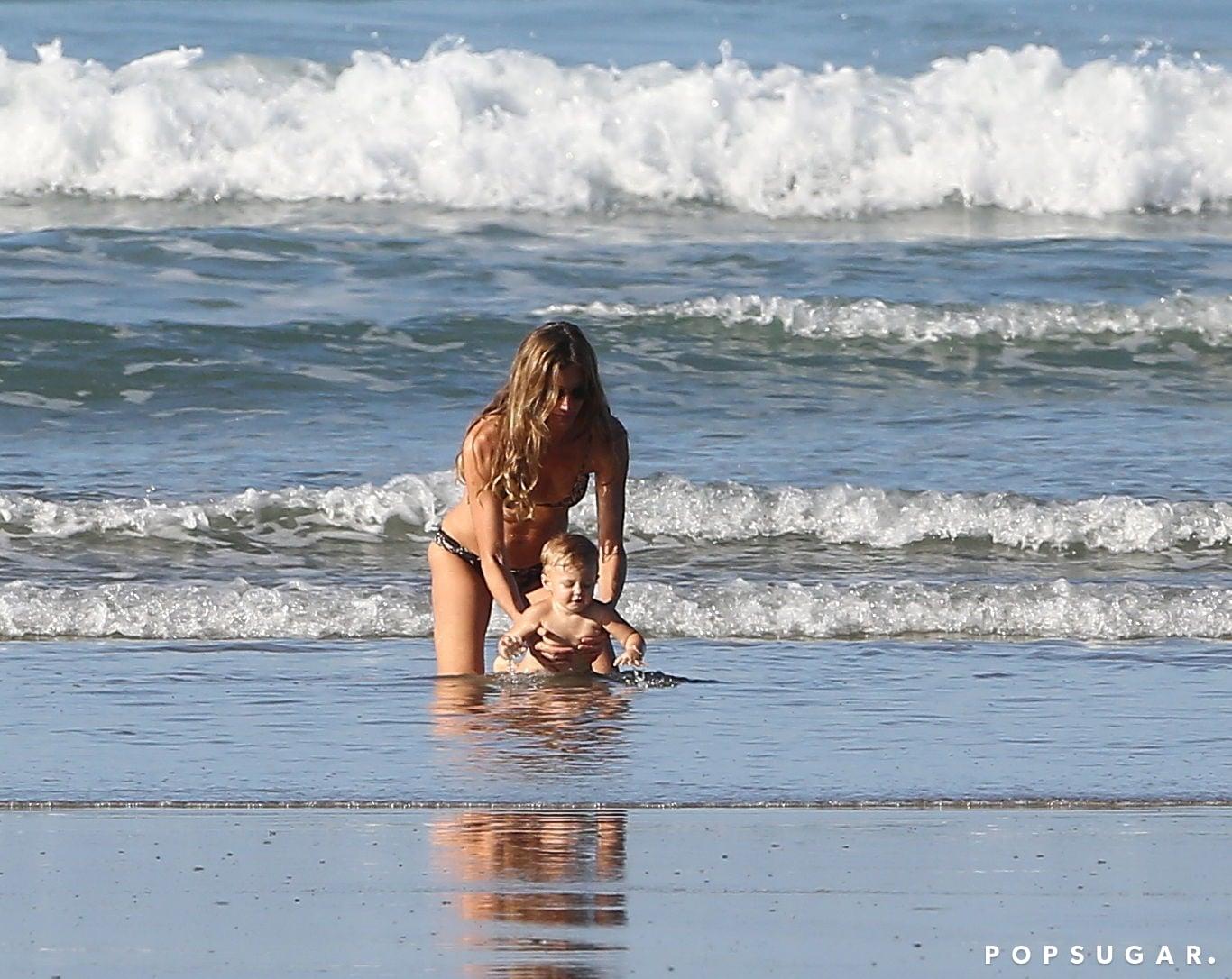 Gisele's Rep Responds to Her Helmet-Free Beach Ride With Vivian