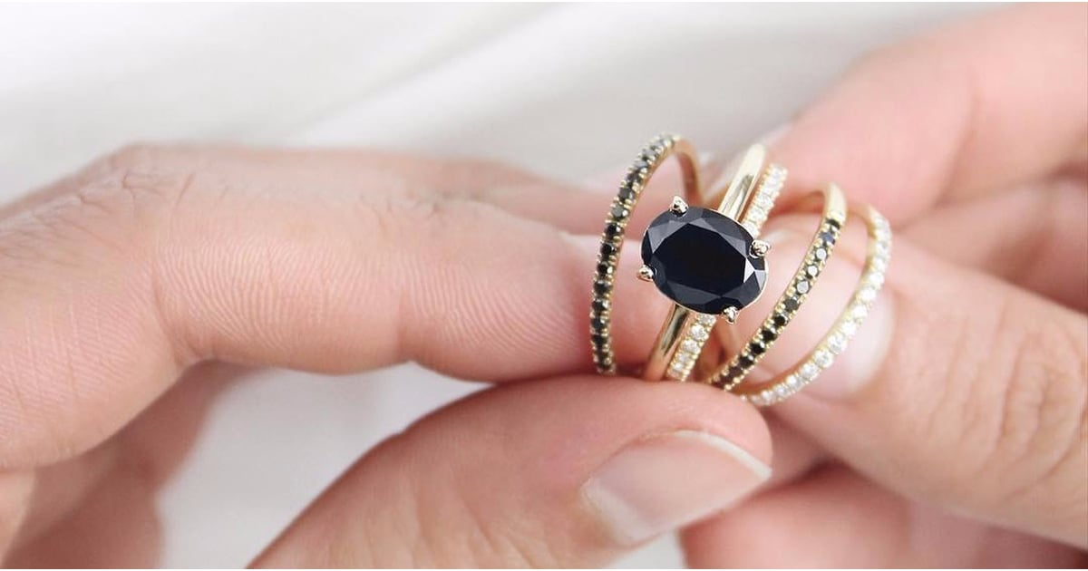 20 Black Stone Engagement Rings to Go With Your Soul