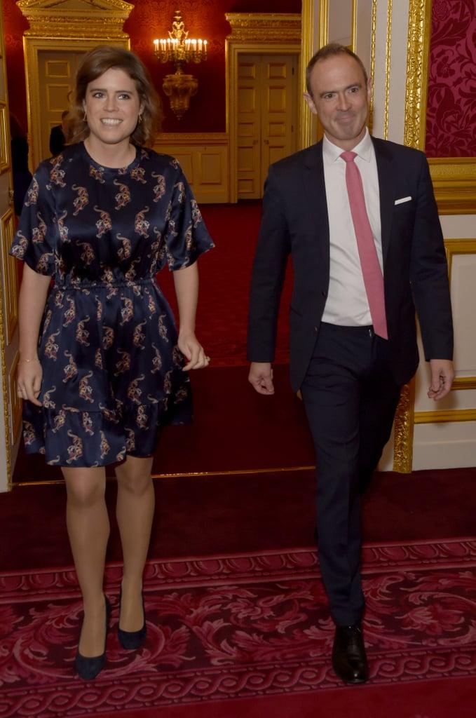 Princess Eugenie Sandro Tiger Dress