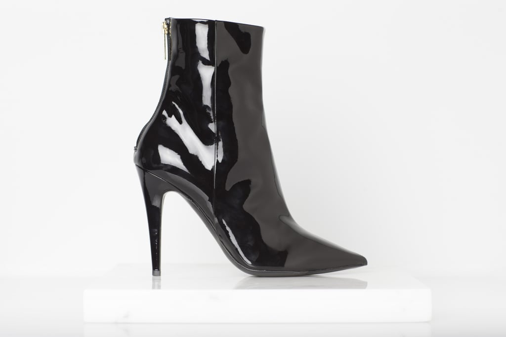 Excess Patent Ankle Boot in Black Photo courtesy of Tamara Mellon