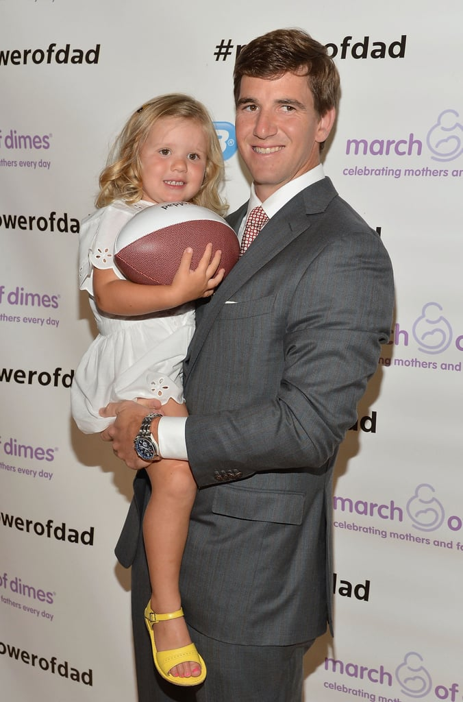 New York Giant Eli Manning Passes Along a Few Words For Parents of Future Athletes