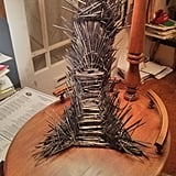 This Iron Throne Phone Charging Stand Made of 1,000 Miniswords