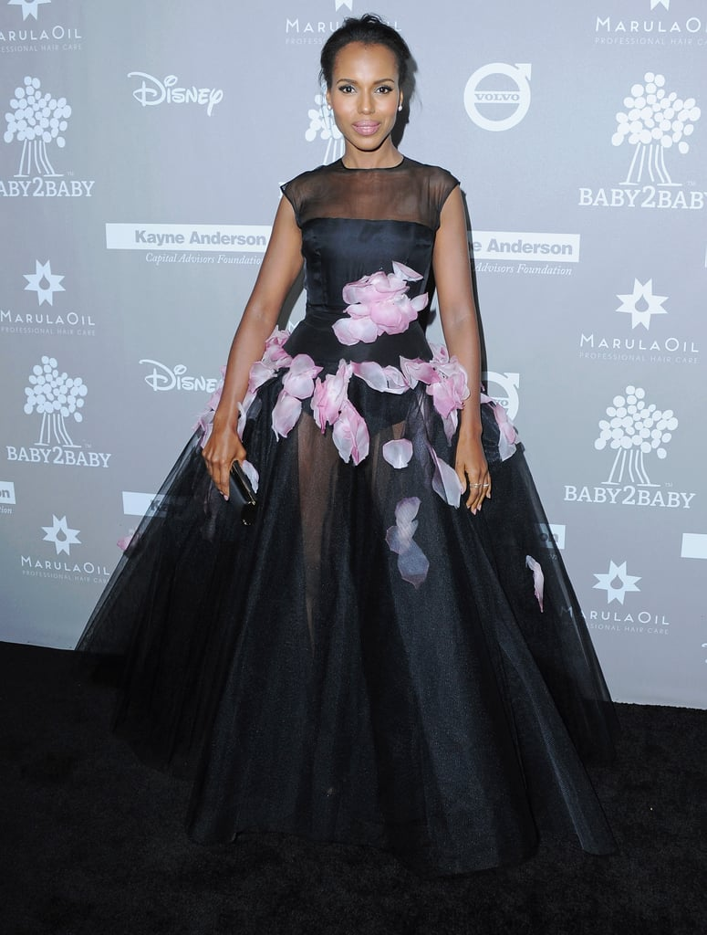 Kerry Wore a Sheer Ballgown at the 2015 Baby2Baby Gala