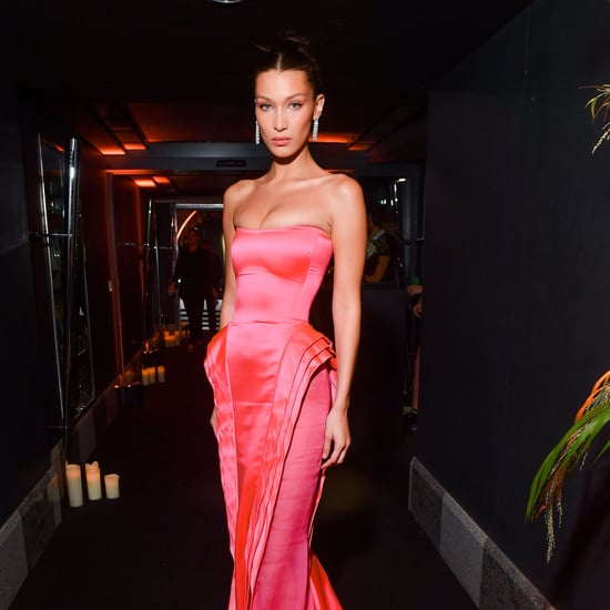 Bella Hadid's Pink Gown in Paris 2018