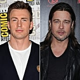 "There's more than one guy who's got eyes for Brad Pitt! In a 2009 interview with Advocate, Chris Evans said that his friends all have his man crush picked out for him . . . and he didn't seem too upset about it: ""My buddies always tell me that I have a man crush on Brad Pitt. What can I say? The guy's great. I think he's a great f*ckin' actor, and he's versatile as all hell. I've never seen a movie I didn't like him in. So I guess he's my man crush."""