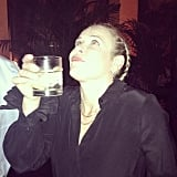 Chelsea Handler knocked back a cocktail during the GQ Men of the Year party. Source: Instagram user whitneyacummings