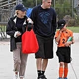 Reese Witherspoon and Jim Toth took Deacon to his soccer game in LA.