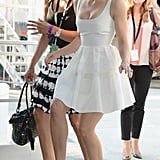 Jessica Biel made a funny face on her way into the Nokia Theatre for the ESPY Awards.