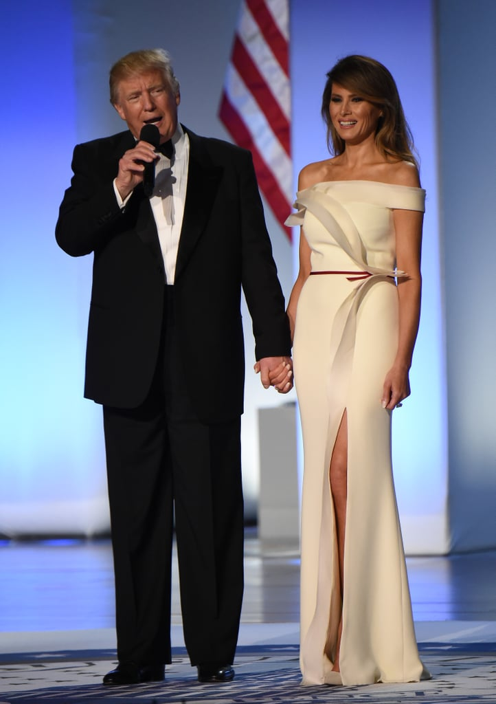 Hervé Collaborated With Melania on Her 2017 Inaugural Ball Gown