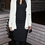 Rachel Roy styled up easy black and white at her afterparty.