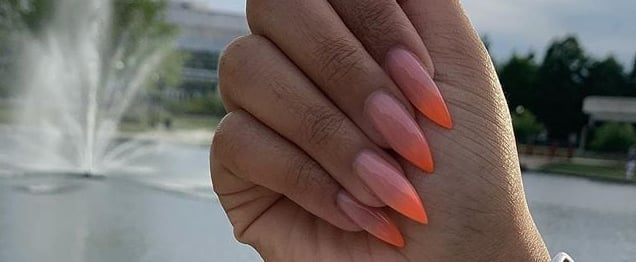 Neon Orange Nail Art Ideas