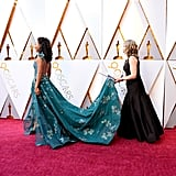When Betty Gabriel's Dress Was So Big, Her Train Had to Be Carried by Someone Else