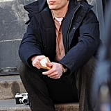 James Franco on the Set