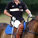 William celebrated his 21st birthday by playing in a polo match at the Beaufort Polo Club in July 2002.