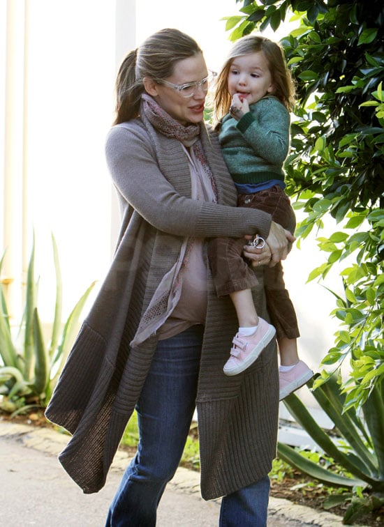Jennifer Garner wore glasses on a day out with Seraphina.