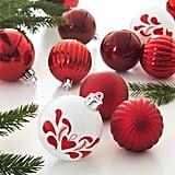 Vinterfest Red Ornaments Set