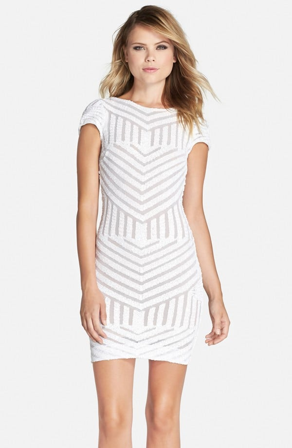 36857419a4f9 Dress the Population Tabitha Geometric Sequin Minidress ( 178 ...