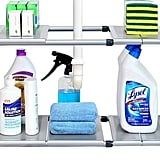 SimpleHouseware Under Sink 2 Tier Expandable Shelf Organiser
