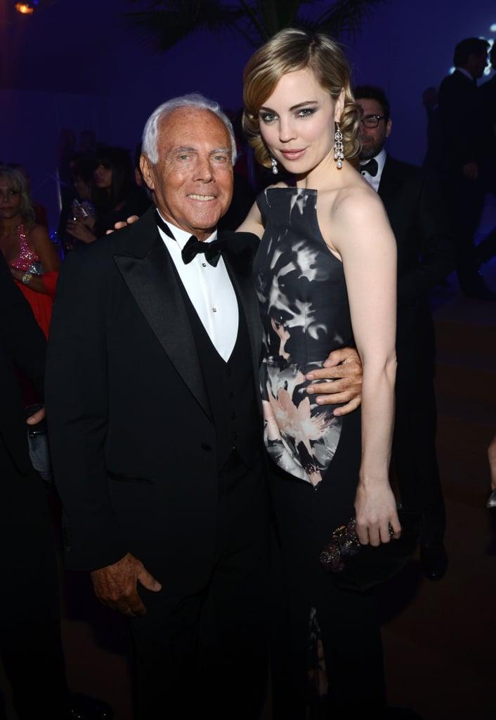Giorgio Armani and Melissa George attended the Haiti Carnival in Cannes event.